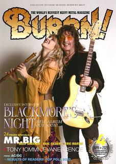 表紙&巻頭は6年振りの新作をリリースするBLACKMORE'S NIGHT! BURRN!2021年4月号は3月5日発売!