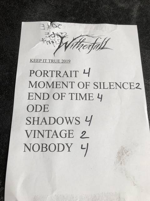 WITHERFALLセットリスト
