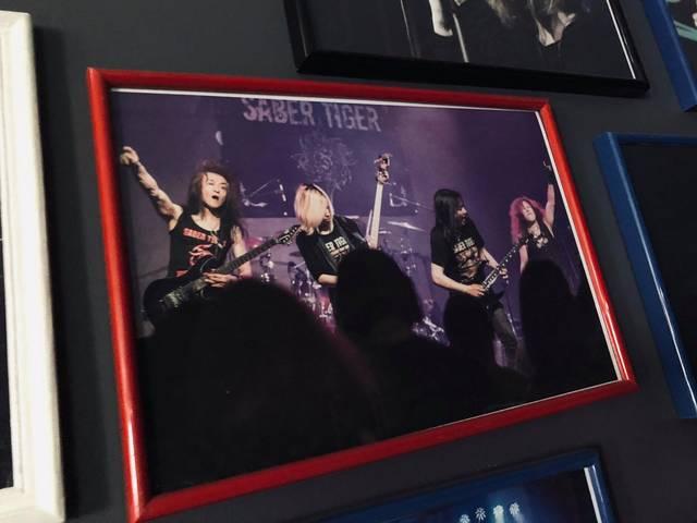 去年のステージ写真を壁に飾ってくれていました