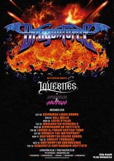 LOVEBITESがDRAGONFORCEのUKツアーに参加決定、11月に英国の全11都市をサーキット