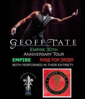 ジェフ・テイトがQUEENSRŸCHEのアルバム『Empire』と『Rage for Order』の全曲再現ツアーを開催