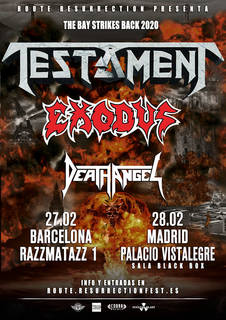 TESTAMENT、EXODUS、DEATH ANGEL、ベイエリアスラッシュ3組による欧州ツアー開催