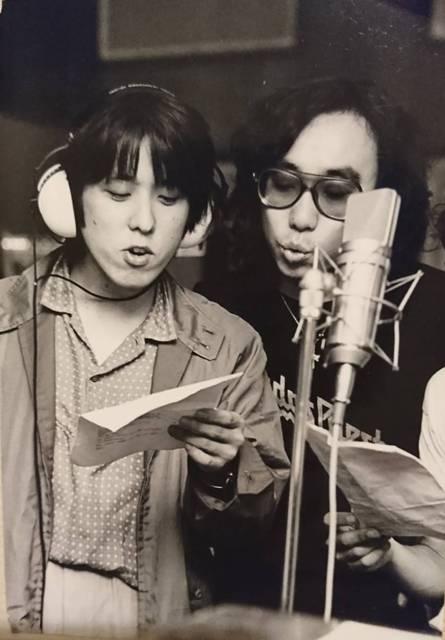 1979年夏。大貫憲章さんとレコーディング。