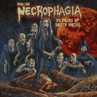 USカルトデスのパイオニアNECROPHAGIAが35周年音源集をリリース!