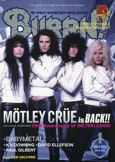 再結成が決定したMOTLEY CRUEを大フィーチュア!『BURRN! 1月号』は12月5日発売!
