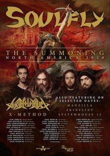 SOULFLYが2020年の北アメリカ・ツアーを発表!