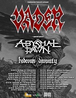VADERが2020年2月の北米ツアーを発表!共に回るのはABYSMAL DAWNとHIDEOUS DIVINITY!