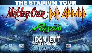 MÖTLEY CRÜEとDEF LEPPARDがスタジアム・ツアー!スペシャル・ゲストにPOISONとJOAN JETT AND THE BLACKHEARTS!