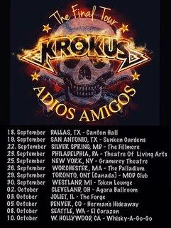まだ終われねぇ!アメリカのアミーゴにもお別れを。KROKUSが来年9月から北米で最後のツアー!