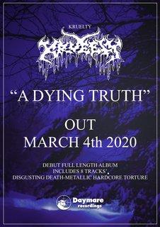 東京で活躍するデスメタリック・ハードコア・バンドKRUELTYがDaymare Recordingsからフルアルバムをリリース!
