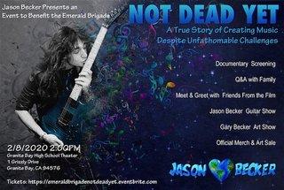 カリフォルニアにてJason Beckerの『Not Dead Yet』上映会