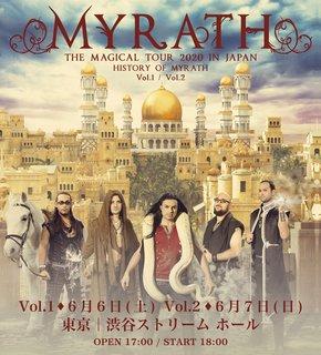 チュニジアのメタル・バンド、MYRATHが初の単独来日公演を行なうことが決定!