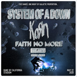 SYSTEM OF A DOWN、KORN、FAITH NO MORE、HELMETがスタジアム公演!