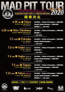 JILUKA主催「MAD PIT TOUR 2020」開催決定!