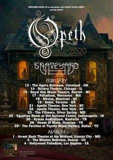 北米ツアー中のOPETHは喉頭炎で3公演をキャンセル
