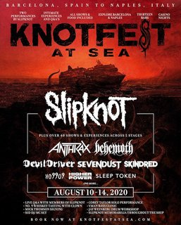 KNOTFEST AT SEA参加バンド第一弾発表!