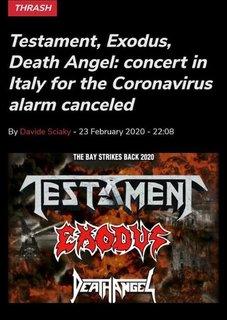 新型コロナウイルスの影響でTHE BAY STRIKES BACK 2020のイタリア公演中止