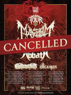 米国の<Decibel Magazine Tour>(MAYHEM、ABBATHなど)もキャンセル