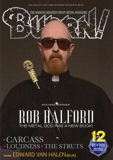 巻頭には自伝を刊行したロブ・ハルフォードの独占インタビューを掲載!BURRN!12月号発売中