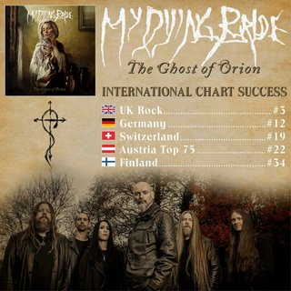 MY DYING BRIDE、新譜『The Ghost Of Orion』のチャート・アクション好調!