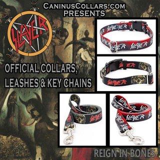 犬だってヘヴィにキメたい時もある。Caninus CollarsからSLAYER、MÖTLEY CRÜE、MOTÖRHEADデザインの首輪やリード発売!