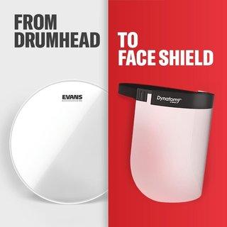 ギター弦などで有名なD'Addarioがドラムヘッドから、顔を保護するシールドを開発!