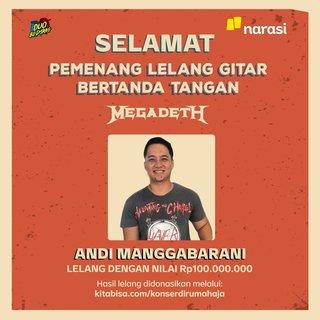 MEGADETHのサイン入りギターがインドネシアの新型コロナウイルス救済チャリティ・オークションに