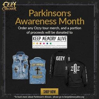 オジー・オズボーンはツアー商品の利益からパーキンソン病の研究をサポートするKeep Memory Aliveへ寄付
