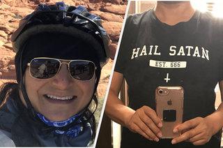 メタルヘッズよ、悪魔Tシャツにはご用心。「Hail Satan」Tシャツを着た女性が搭乗拒否!