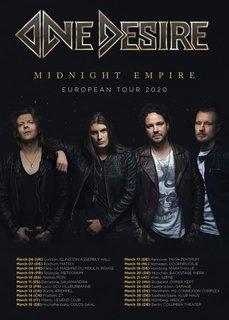 フィンランドのメロディック・ハード・ロックONE DESIREが2020年に『Midnight Empire』をリリース!