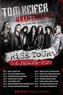 トム・キーファーの#KEIFER BANDは2020年夏のヨーロッパ・ツアーを発表!