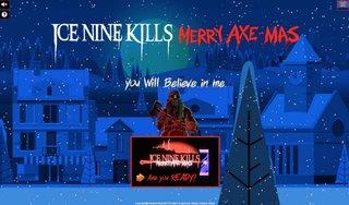 恐怖のクリスマスを!ICE NINE KILLSが無料オンライン・ゲーム『Merry Axe-Mas』を発表!