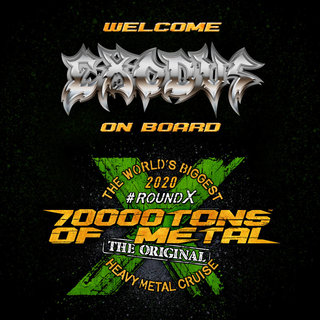 EXODUSは『Bonded by Blood』35周年を70000TONS OF METAL 2020で祝う!