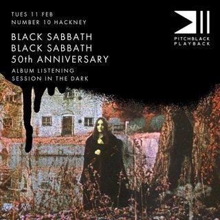 BLACK SABBATH『黒い安息日』を暗闇で……