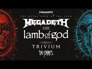 MEGADETHとLAMB OF GOD、さらにTRIVIUMとIN FLAMSもついた特盛北米ツアー発表!