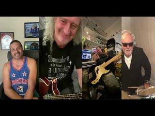 QUEENのブライアン・メイとロジャー・テイラー、そしてジェフ・スコット・ソートが「We Are The Champion」を演奏