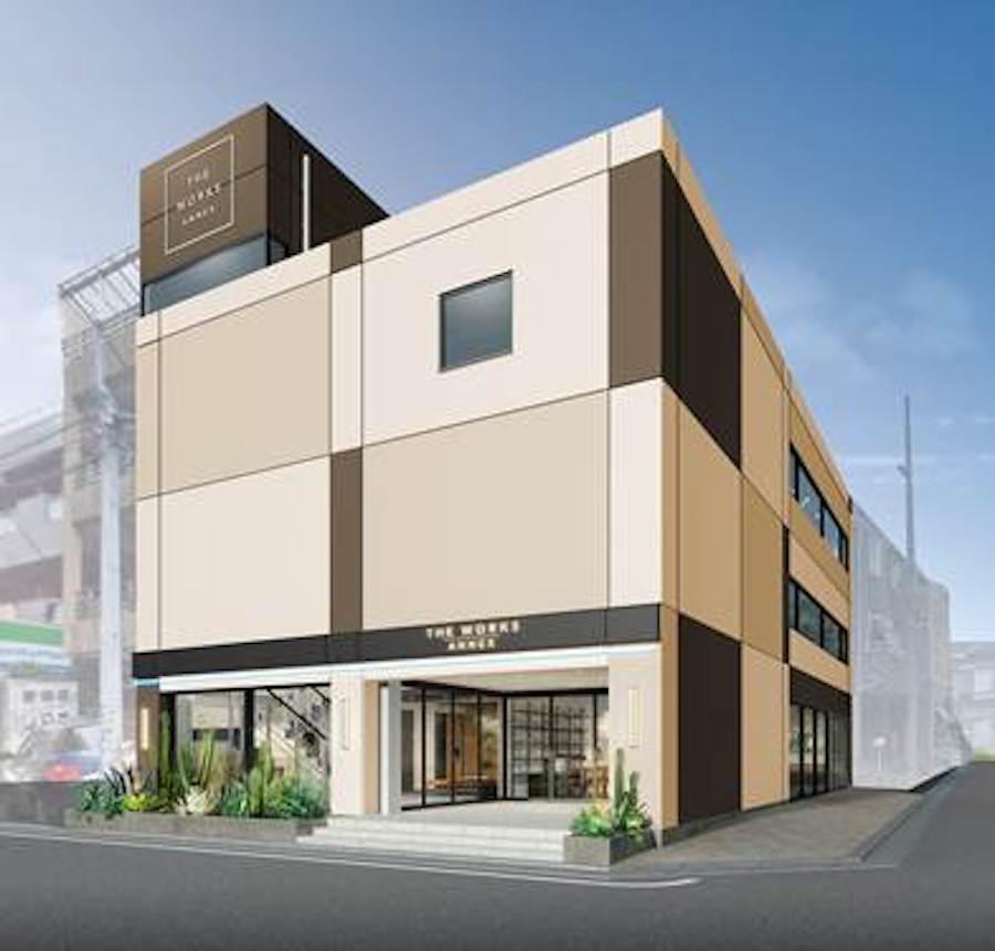 中目黒に、スモールオフィスと店舗からなる複合施設がオープン