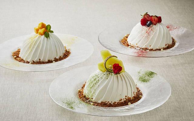 ロイヤルパークホテル、カキ氷×ケーキのハイブリットスイーツ「スノードームケーキ」販売[東京・水天宮前]