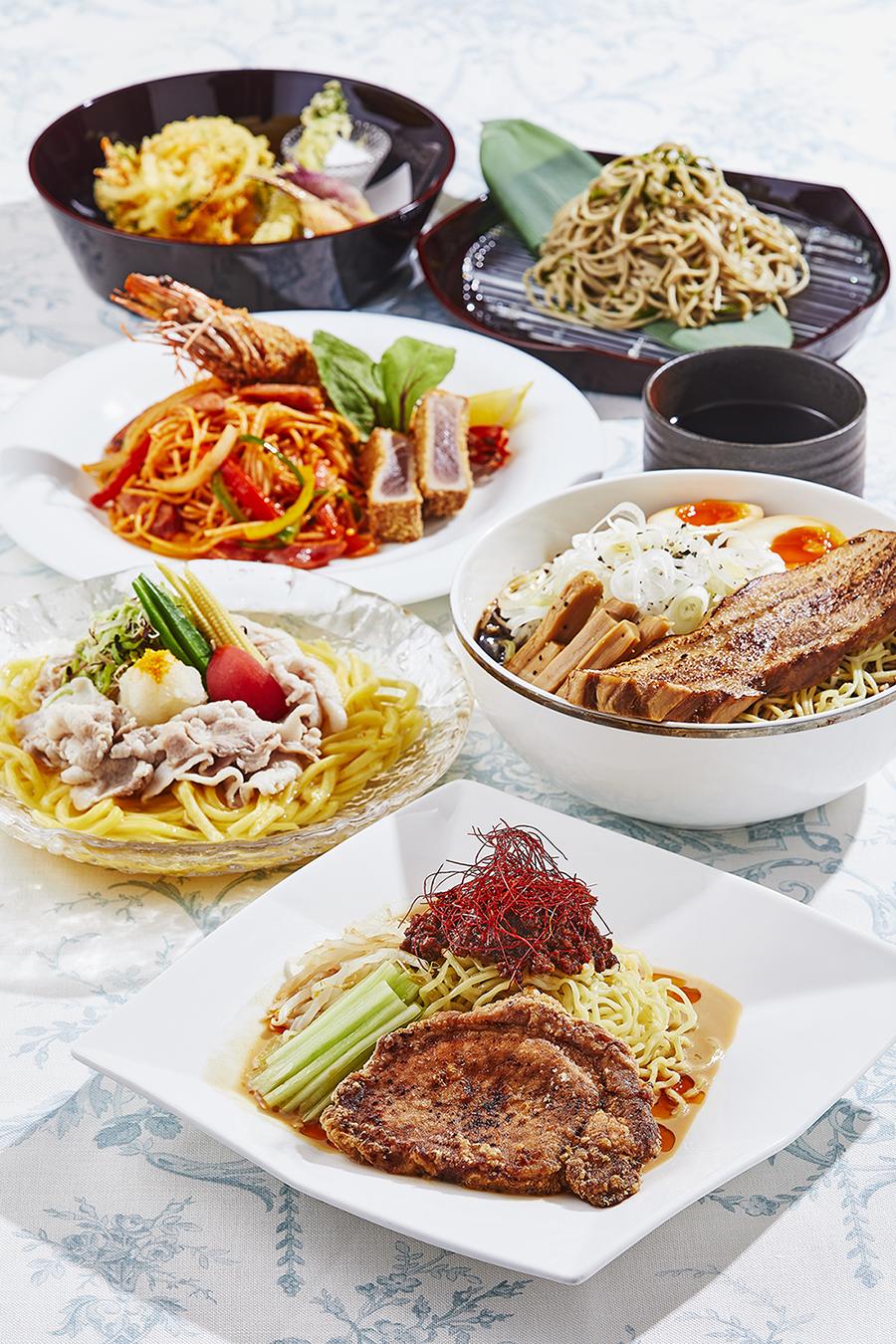 暑い季節に食べたい「夏の麺フェア」開催──おすすめの麺5種を用意[東京・赤坂見附]