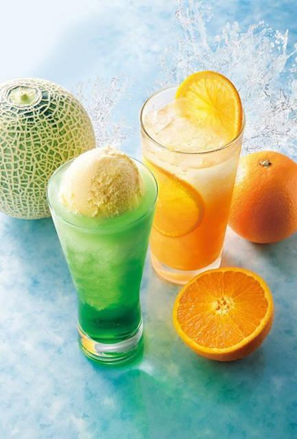 カフェ・ド・クリエ、ドリンクメニュー「オレンジスパークリング」などを発売