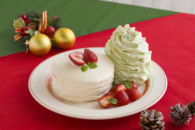 Eggs 'n Thingsから「クリスマスホイップツリーパンケーキ」が期間限定発売!