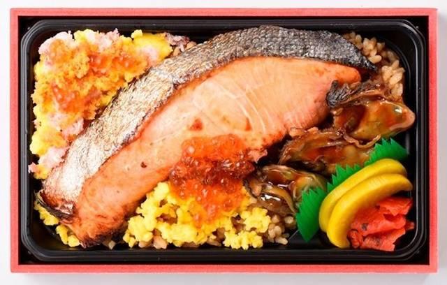 氏家待合所「豪快!海鮮ミックス鮭かきめし」1,500円(税込)
