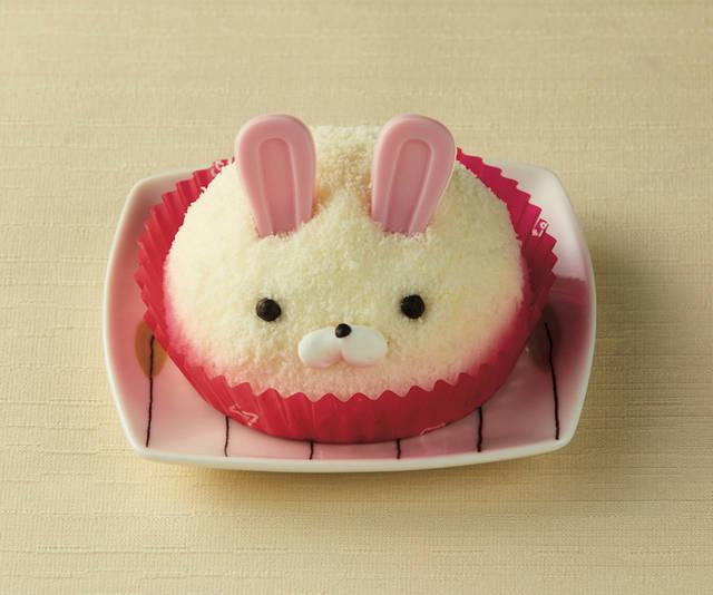 「バニラ&チョコ うさぎのムースケーキ」328円(税込)