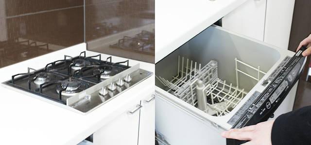 4口コンロと食洗器