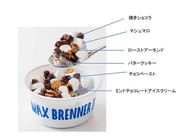マックス ブレナー ミントチョコレートチャンクアイスクリーム