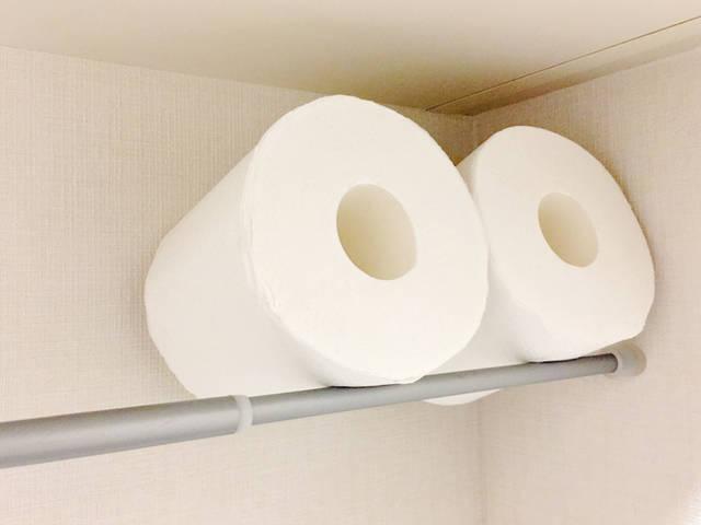 突っ張り棒 トイレ収納 トイレットペーパー