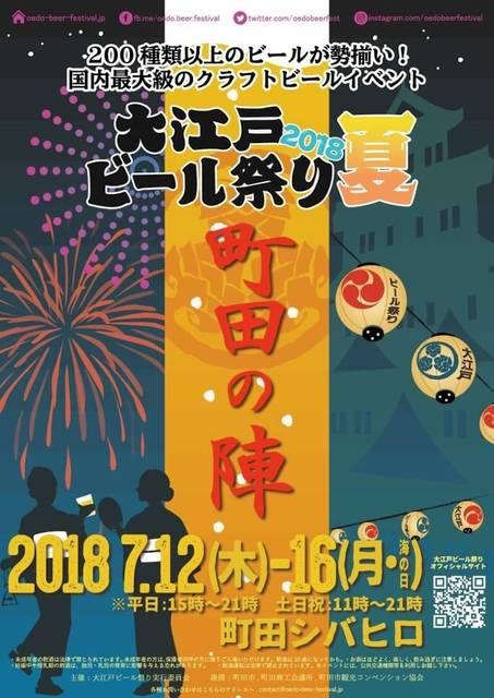 町田シバヒロで、「大江戸ビール祭り2018夏」開催