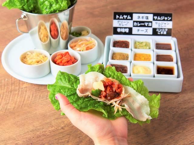 毎月29日の「肉の日」に、「しゃぶギョプサル」の食べ飲み放題コースを税別2,900円で提供