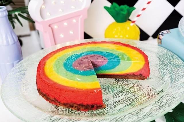 レインボーチーズケーキ