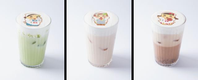 「アイス抹茶 / ほうじ茶 / あずきラテ」各780円